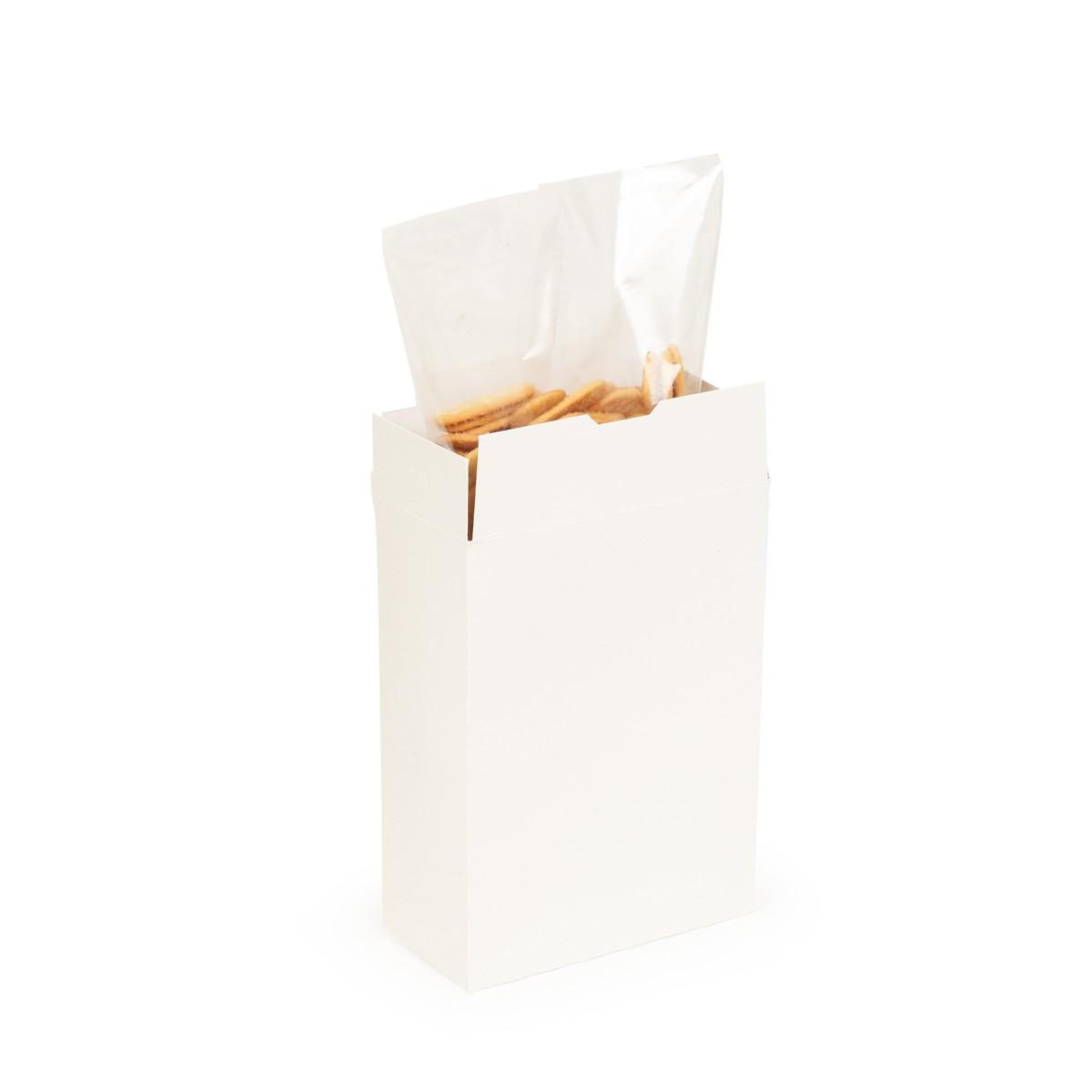 Clear bag in box